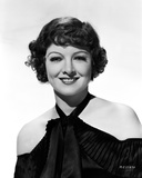 Myrna Loy smiling Posed in Off Shoulder Blouse Photo by CS Bull