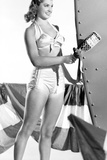 Esther Williams smiling in Black and White Photo by  Movie Star News