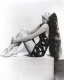 Dorothy Lamour Looking Up in Black and White Photo by  Movie Star News