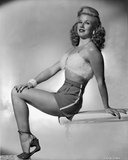 Ginger Rogers Curly Hair, Red lipstick Posed in Lingerie Photo by Gaston Longet