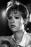 Molly Ringwald Close Up Portrait in Black and White Photo by  Movie Star News