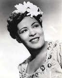 Billie Holiday smiling Close Up Portrait with Floral Accessories Photo by  Movie Star News