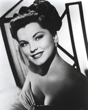 Debra Paget Posed in Black and White wearing Earrings Photo by  Movie Star News