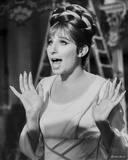 Barbra Streisand Looking Amazed In White Dress Photo by  Movie Star News