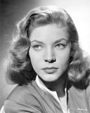 Close Up Portrait of Lauren Bacall in Black and White Photo by  Movie Star News