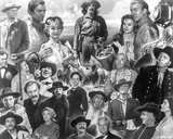 Collage of characters in How the West Was Won. Photo by  Movie Star News