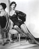 Ava Gardner posed in Black Lingerie on the Mirror Photo by  Movie Star News