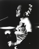 Movie Star News - Billie Holiday in Gown singing Photo
