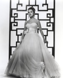 Debra Paget in White Gown Portrait Photo by  Movie Star News