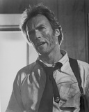 Clint Eastwood Talking in White Long Sleeve with Necktie Portrait Photo by  Movie Star News