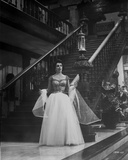 Elizabeth Taylor standing in Gown Photo by  Movie Star News
