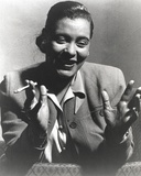 Billie Holiday Smoking Cigarette in Black and White Portrait Photo by  Movie Star News