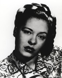 Billie Holiday wearing Lace Dress Close Up Portrait with White Background Photo by  Movie Star News