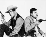 Dean Martin and Jerry Lewis Posed in Classic Portrait With Pistol Photo by  Movie Star News