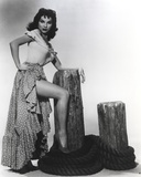 Debra Paget Posed in Dress Black and White Photo by  Movie Star News