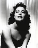 Black and White Portrait of Ava Gardner in Black Dress Photo by  Movie Star News