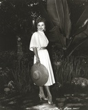 Debra Paget in White Dress With Hat Photo by  Movie Star News