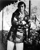 Engelbert Humperdinck Leaning in Black Leater Coat Photo by  Movie Star News