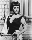 Cleopatra Posed in Black Dress with White Robe Photo by  Movie Star News