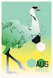 AUS Emu MMXVI (Color Gradient) Posters
