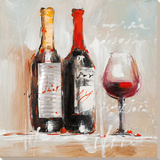 Stillleben mit Wein Poster