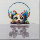 Feline Reflections Toiles retouchées à la main