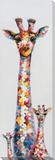 Polka-Dotted Giraffe Trio Handverzierte Leinwände