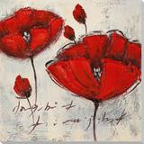 Crimson Blooms II Poster