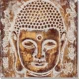 Golden Buddha Relief I Posters