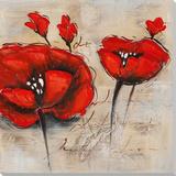 Dunkelrote Blüten I Kunstdrucke
