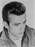 James Dean Portrait in Grey Velvet Jacket and White T-Shirt with Brushed Up Hair Photo by  Movie Star News