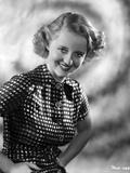 Bette Davis Portrait Hands on the Waist in White Polka Dot Black Short Sleeve Dress Photo by Elmer Fryer