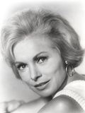 Janet Leigh Close Up Portrait in White Sleeveless Dress and Hoop Earrings Photo by  Movie Star News
