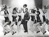 Laurence Olivier with Dancing Ladies Black and White Portrait Photo by  Movie Star News