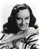 Paulette Goddard smiling wearing Stripe Dress Close Up Portrait with White Background Photo by  Movie Star News