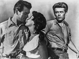 James Dean Posed in Grey Short Sleeve Shirt and Pants with Belt while Looking to the Right Photo by  Movie Star News