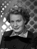 Shirley Booth on a Portrait in Black Long Sleeve Dress with Stripe Collar Photo by  Movie Star News