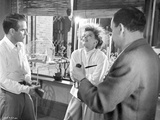 Suddenly Last Summer Two Men Having Fun Talk with Lady Scene Excerpt from Film in Black and White Photo by  Movie Star News