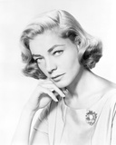 Lauren Bacall posed with Hand on Chin in Black and White Portrait Photo by  Movie Star News