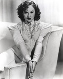 Paulette Goddard Seated on Couch wearing Formal Dress Portrait Photo by  Movie Star News