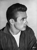 James Dean Portrait in Black Long Sleeve Velvet Jacket and Round Neck T-Shirt Photo by Floyd Mccarty