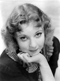 Una Merkel on a Printed Collar and Chin Leaning on Hand Portrait Photo by  Movie Star News