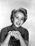 Jane Powell Portrait in Stripe Short Sleeve Collar Shirt with Hands Together Photo by  Movie Star News