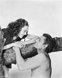 Johnny Weissmuller Talking to a Woman on Top of a Tree in a Classic Movie Scene Photo by  Movie Star News