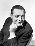 Peter Lorre in Posed while Smoking Cigarette wearing Tuxedo Black and White Portrait Photo by  Movie Star News