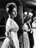 Geraldine Chaplin in White Gown with Curly Hair Side View Angle Photo by  Movie Star News
