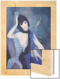Portrait de Mademoiselle Channel Wood Print by Marie Laurencin