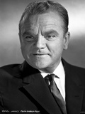 James Cagney Portrait in Black Velvet Sui and Silk Necktie Photo by Virgil Apger