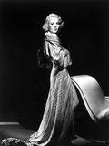 Jane Wyman Posed in Grey Long Sleeve Silk Shoulder Dress with Head Turn to the Right Photo by  Movie Star News