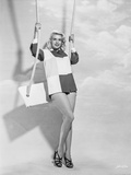 Jayne Mansfield Posed and Stood on the Swing Photo by Bert Six